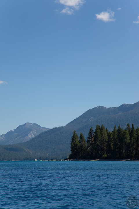 """Lake Tahoe 9"" - This scene was photographed near the West shore of Lake Tahoe, California."