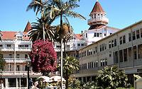 San Diego: Hotel Del Coronado, Coronado--interior court. Photo '78.