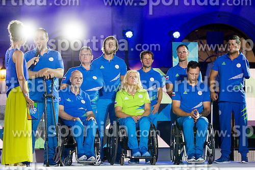 During presentation of Slovenian Paralympics Team for Rio 2016, on July 22, 2016 in Titov trg, Koper, Slovenia. Photo by Urban Urbanc / Sportida