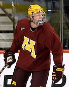 Ryan Stoa (Minnesota 29) takes part in the Gophers' morning skate at the Xcel Energy Center in St. Paul, Minnesota, on Friday, October 12, 2007, during the Ice Breaker Invitational.