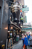 The The Perfect Pint in Midtown in New York is seen on Saturday, March 5, 2011. In advance for St. Patrick's Day. (© Richard B. Levine)