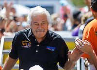 Jun 19, 2016; Bristol, TN, USA; NHRA top fuel driver Chris Karamesines during the Thunder Valley Nationals at Bristol Dragway. Mandatory Credit: Mark J. Rebilas-USA TODAY Sports