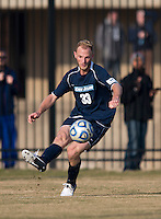 Julian Ringhof (33) of San Diego passes the ball into the box during the game at North Kehoe Field in Washington, DC.  Georgetown defeated San Diego, 3-1.
