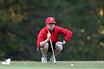 31 October 2016: Liberty University's Kieran Vincent (ZIM). The Third Round of the 2016 Bridgestone Golf Collegiate NCAA Men's Golf Tournament hosted by the University of North Carolina Greensboro Spartans was held on the West Course at the Grandover Resort in Greensboro, North Carolina.