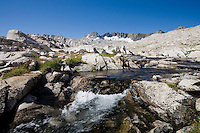 A stream along the John Muir Trail, Sierra Nevada CA