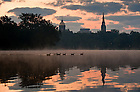 Sept. 4, 2009; Sunrise over St. Mary's lake, late summer...Photo by Matt Cashore/University of Notre Dame