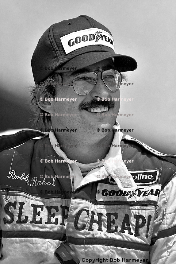 INDIANAPOLIS, IN - MAY 30: Bobby Rahal in the pit lane after qualifying for his first Indianapolis 500 on May 30, 1982, at the Indianapolis Motor Speedway in Indianapolis, Indiana.