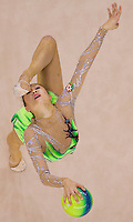 Aliya Garayeva (AZE) performs with the ball during the final of the 2nd Garantiqa Rythmic Gymnastics World Cup held in Debrecen, Hungary. Sunday, 07. March 2010. ATTILA VOLGYI