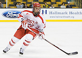 Ross Gaudet (BU - 22) - The Harvard University Crimson defeated the Boston University Terriers 5-4 in the 2011 Beanpot consolation game on Monday, February 14, 2011, at TD Garden in Boston, Massachusetts.