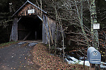 Overview at Tappen/Kittle Covered Bridge, (1906, rebuilt 1885) carries Ericson Road over Dry Brook, off of Dry Brook Road, 8 miles south of Intersection with Rt. 28, Arkville, NY, on Friday, October 24, 2014. Photo by Jim Peppler. Copyright Jim Peppler 2014.