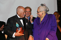 NEW YORK, NY - APRIL 3: Hon. David N. Dinkins, Randy Levine, Dr. Phyllis Harrison-Ross pictured as David N. Dinkins, 106th Mayor of the City of New York, receives the Dr. Phyllis Harrison-Ross Public Service Award for a lifetime of public service at the New York Society of Ethical Culture in New York City on April 3, 2014. Credit: Margot Jordan/MediaPunch