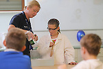 Stop The Block lesson for pupils at Welsh Water Education Centre in Cilfynydd.<br /> 02.07.14<br /> &copy;Steve Pope-FOTOWALES