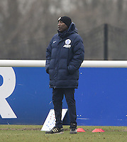QPR caretaker manager Chris Ramsey watches on