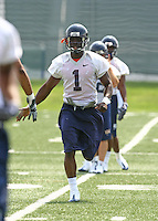 Virginia cornerback Trey Womack during open spring practice for the Virginia Cavaliers football team August 7, 2009 at the University of Virginia in Charlottesville, VA. Photo/Andrew Shurtleff