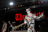 BLACKPOOL, ENGLAND - AUGUST 7: Keith 'Monkey' Warren of 'The Adicts' performing at Rebellion Festival, Empress Ballroom on August 7, 2016 in Blackpool, England.<br /> CAP/MAR<br /> &copy;MAR/Capital Pictures /MediaPunch ***NORTH AND SOUTH AMERICAS ONLY***