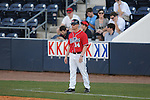 Ole Miss assistant Kirk McConnell (14) vs. Wright State at Oxford University Stadium in Oxford, Miss. on Sunday, February 20, 2011. Ole Miss won 6-5 to improve to 3-0 on the season.