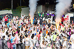 The crowd hopping at the Killarney Glow Neon run on Saturday night