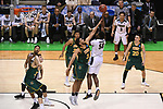 MILWAUKEE, WI - MARCH 16:  Purdue Boilermakers forward Caleb Swanigan (50) shoots over Vermont Catamounts forward Anthony Lamb (3) in the lane during the second half of the 2017 NCAA Men's Basketball Tournament held at BMO Harris Bradley Center on March 16, 2017 in Milwaukee, Wisconsin. (Photo by Jamie Schwaberow/NCAA Photos via Getty Images)