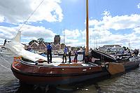 SKUTSJESILEN: GROU: SKS skûtsjesilen, Friese Sporten, 24-07-2010, Fryslân, skûtsje Grou (It Doarp Grou), ©foto Martin de Jong