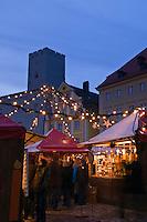 Christmas market, Regensburg, Bavaria, Germany