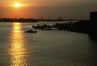 1985 July ..Historical..SUNSET FROM WATERFRONT...NEG#.NRHA#..