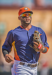 7 March 2013: Houston Astros infielder Jonathan Villar trots back to the dugout during a Spring Training game against the Washington Nationals at Osceola County Stadium in Kissimmee, Florida. The Astros defeated the Nationals 4-2 in Grapefruit League play. Mandatory Credit: Ed Wolfstein Photo *** RAW (NEF) Image File Available ***
