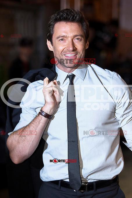American actor Hugh Jackman arrives to Maria Cristina hotel during the 61 San Sebastian Film Festival, in San Sebastian, Spain. September 26, 2013. (ALTERPHOTOS/Victor Blanco)