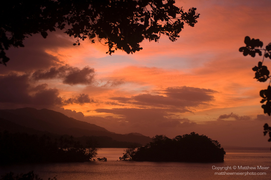 Milne Bay, Papua New Guinea; sunset views from Tawali Resort , Copyright © Matthew Meier, matthewmeierphoto.com