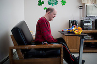 Jack Walsh, 62, is a longtime resident of the Fernald Developmental Center in Waltham, Massachusetts, USA.  Jack has been diagnosed with profound mental retardation and cannot speak.