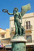 Statue to the National Resistance, Ermoupoli port, Syros [ ????? ] , Greek Cyclades Islands