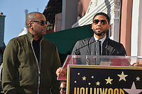 LOS ANGELES, CA. December 2, 2016: Lee Daniels &amp; Jussie Smollett at star ceremony for director Lee Daniels on the Hollywood Walk of Fame.<br /> Picture: Paul Smith/Featureflash/SilverHub 0208 004 5359/ 07711 972644 Editors@silverhubmedia.com