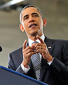 United States President Barack Obama delivers remarks to students on his FY 2013 Budget at Northern Virginia Community College in Annandale, Virginia on Monday, February 15, 2012..Credit: Ron Sachs / Pool via CNP
