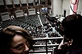 Warsaw 13/04/2010 Poland<br /> People mourning the tragic death of President Lech Kaczynski and his wife.<br /> on pictures: desolate Polish Parliament.<br /> Photo: Adam Lach / Napo Images for The New York Times<br /> <br /> Zaloba po tragicznej smierci Prezydenta Lecha Kaczynskiego i jego malzonki.<br /> na zdjeciu: opuszczony polski sejm.<br /> Fot: Adam Lach / Napo Images for The New York Times