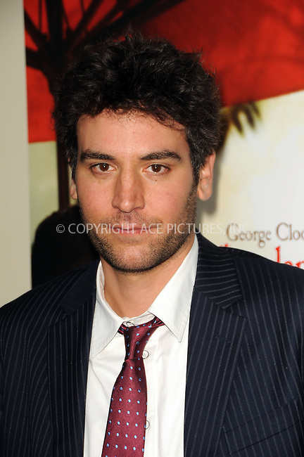 WWW.ACEPIXS.COM . . . . .  ....November 15 2011, LA....Josh Radnor arriving at the premiere of 'The Descendants' at AMPAS Samuel Goldwyn Theater on November 15, 2011 in Beverly Hills, California.....Please byline: PETER WEST - ACE PICTURES.... *** ***..Ace Pictures, Inc:  ..Philip Vaughan (212) 243-8787 or (646) 679 0430..e-mail: info@acepixs.com..web: http://www.acepixs.com