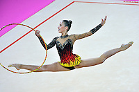 September 19, 2011; Montpellier, France;   SHELBY KISIEL of USA performs with hoop at 2011 World Championships.