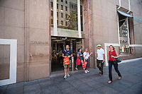 The Tiffany & Co. flagship store on Fifth Avenue in Midtown Manhattan on Thursday, August 28, 2014. Tiffany & Company, the high-end jeweler, announced that second-quarter profits experienced a better than expected rise with the strongest sales growth in the Americas region. (©Richard B. Levine)
