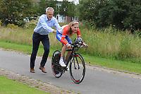 WIELRENNEN: HEERENVEEN: 09-09-2014, Aafke Soet en haar oom Eddy Schurer, ©foto Martin de Jong
