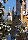 Dome and Basilica covered in snow.<br />
