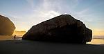 The rocky coast of the Big Sur area of California