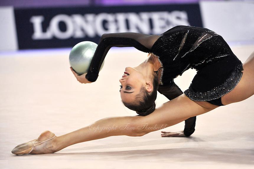 September 22, 2014 - Izmir, Turkey - ELEONORA ROMANOVA of Ukraine performs at 2014 World Championships.