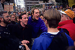 War protesters protesting the US involvement in the Persian Gulf  and the build up to war against Irag January 15 deadline 1991 Seattle Washington State USA