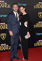 LOS ANGELES, CA. October 20, 2016: Lydia Hearst &amp; Chris Hardwick at the world premiere of Marvel Studios' &quot;Doctor Strange&quot; at the El Capitan Theatre, Hollywood.<br /> Picture: Paul Smith/Featureflash/SilverHub 0208 004 5359/ 07711 972644 Editors@silverhubmedia.com