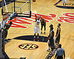 "Ole Miss' Jarvis Summers (32) shoots a free throw vs. Miami at the C.M. ""Tad"" Smith Coliseum in Oxford, Miss. on Friday, November 25, 2011. Ole Miss won 64-61 in overtime."