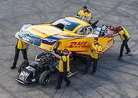 Aug 21, 2016; Brainerd, MN, USA; NHRA funny car driver Del Worsham during the Lucas Oil Nationals at Brainerd International Raceway. Mandatory Credit: Mark J. Rebilas-USA TODAY Sports