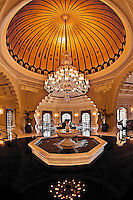 A wonderful example of the beautiful architecture to be seen inside the Oberoi Udaivilas.<br /> (Photo by Matt Considine - Images of Asia Collection)
