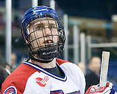 Josh Holmstrom (Lowell - 12) - The University of Massachusetts-Lowell River Hawks defeated the visiting Bentley University Falcons 8-5 (EN) on Tuesday, January 25, 2011, at Tsongas Arena in Lowell, Massachusetts.