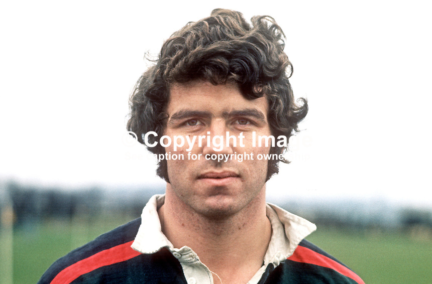 Dick Milliken, aka Richard Milliken, rugby player, former Irish International, Ulster Interprovincial, Bangor RFC, N Ireland, February 1973. 197302000047DM<br /> <br /> Copyright Image from Victor Patterson, 54 Dorchester Park, Belfast, UK, BT9 6RJ<br /> <br /> t1: +44 28 9066 1296 (from Rep of Ireland 048 9066 1296)<br /> t2: +44 28 9002 2446 (from Rep of Ireland 048 9002 2446)<br /> m: +44 7802 353836<br /> <br /> e1: victorpatterson@me.com<br /> e2: victorpatterson@gmail.com<br /> <br /> The use of my copyright images is subject to my Terms &amp; Conditions.<br /> <br /> It is IMPORTANT that you familiarise yourself with them. They are available on my website at www.victorpatterson.com.<br /> <br /> None of my copyright images may be used on a website unless they are visibly watermarked, i.e. &copy; Victor Patterson within the body of the visible image. Metadata denoting my copyright must NOT be deleted. <br /> <br /> Web use (maximum size - 300 kb) is extra at currently recommended NUJ rates.