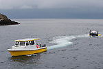 Cocos Island, Costa Rica; the DeepSee submarine being towed by it's support boat, TopSee, while returning from a 300 foot dive to Everest