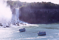 Maid of the Mist' Boat Tour on the Niagara River at Niagara Falls ('American Falls'), Buffalo, New York, USA