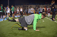 NWA Democrat-Gazette/BEN GOFF @NWABENGOFF<br /> Nick Rogers warms up for the 400 meter run Thursday, April 20, 2017, during the Never Say Never Foundation's Battle of the Blades at the McDonald Relays at Fort Smith Southside.